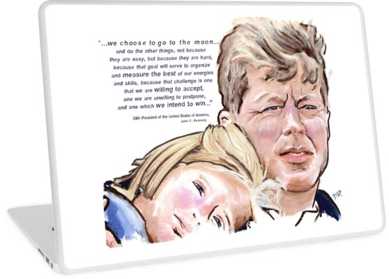 John F Kennedy Picture Quote - To The Moon by Douglas Rickard