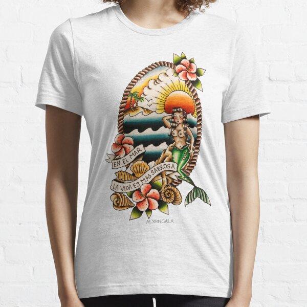 En el Mar la Vida es Mas Sabrosa Essential T-Shirt