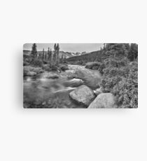 Colorado Indian Peaks Wilderness Panorama BW Canvas Print