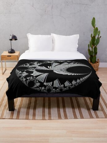 Mandelbrot 20190507-015 Throw Blanket