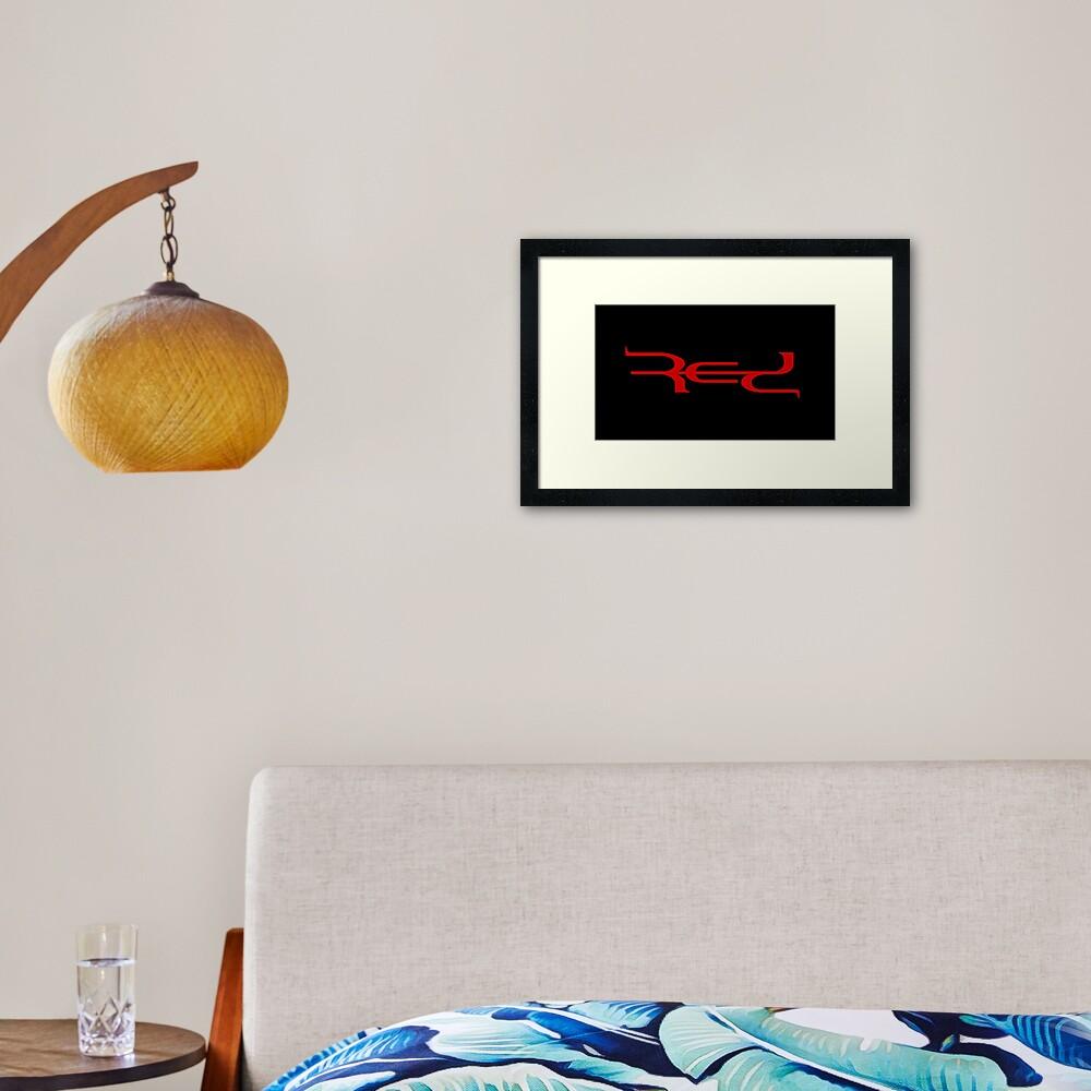 Red Band Logo Framed Art Print