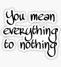 Manchester Orchestra - Everything to Nothing Sticker
