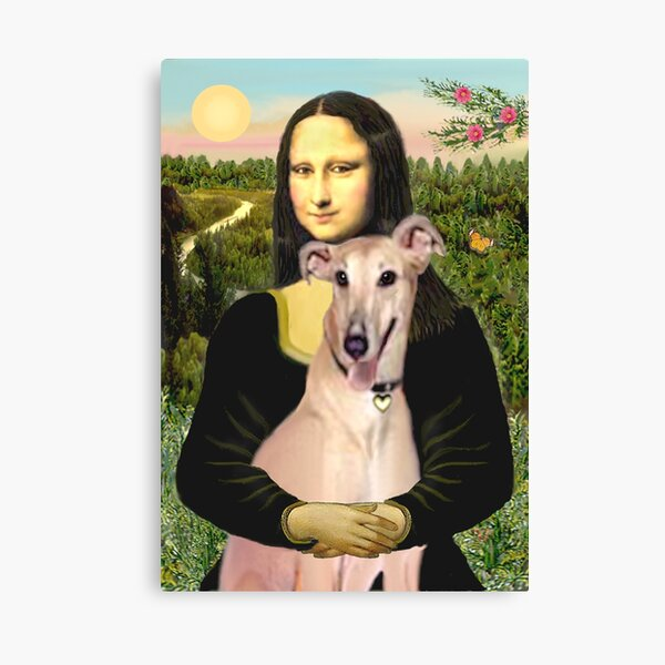 Mona Lisa and her Greyhound (fawn) Canvas Print