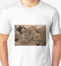 Begonias Sepia Love Slim Fit T-Shirt