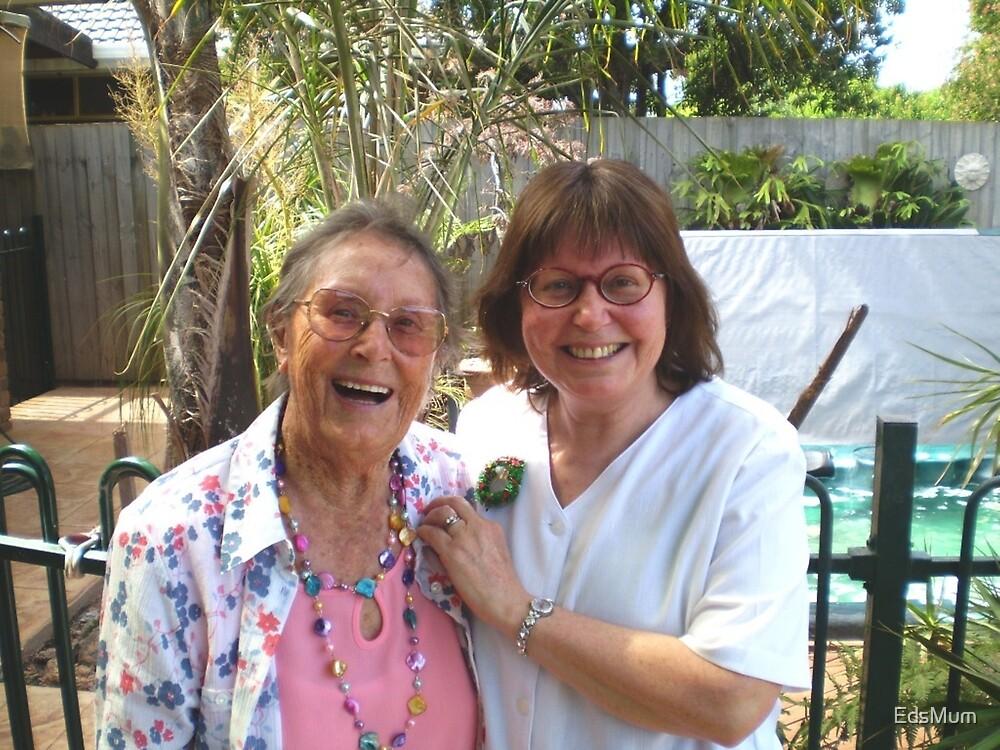 Glückliche Mutter und Tochter, 2008 zu Weihnachten von EdsMum