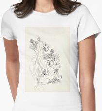 Marmor and roses Fitted T-Shirt