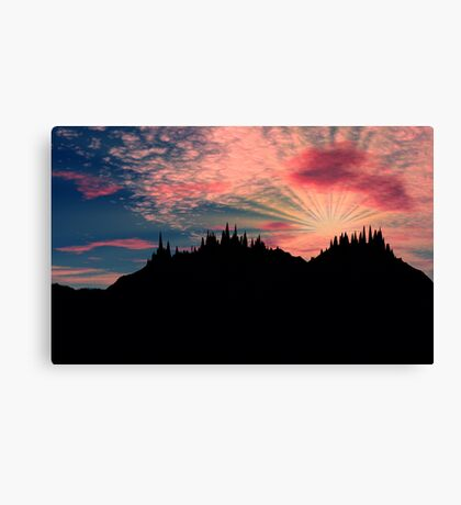 Light Beyond the Trees Canvas Print