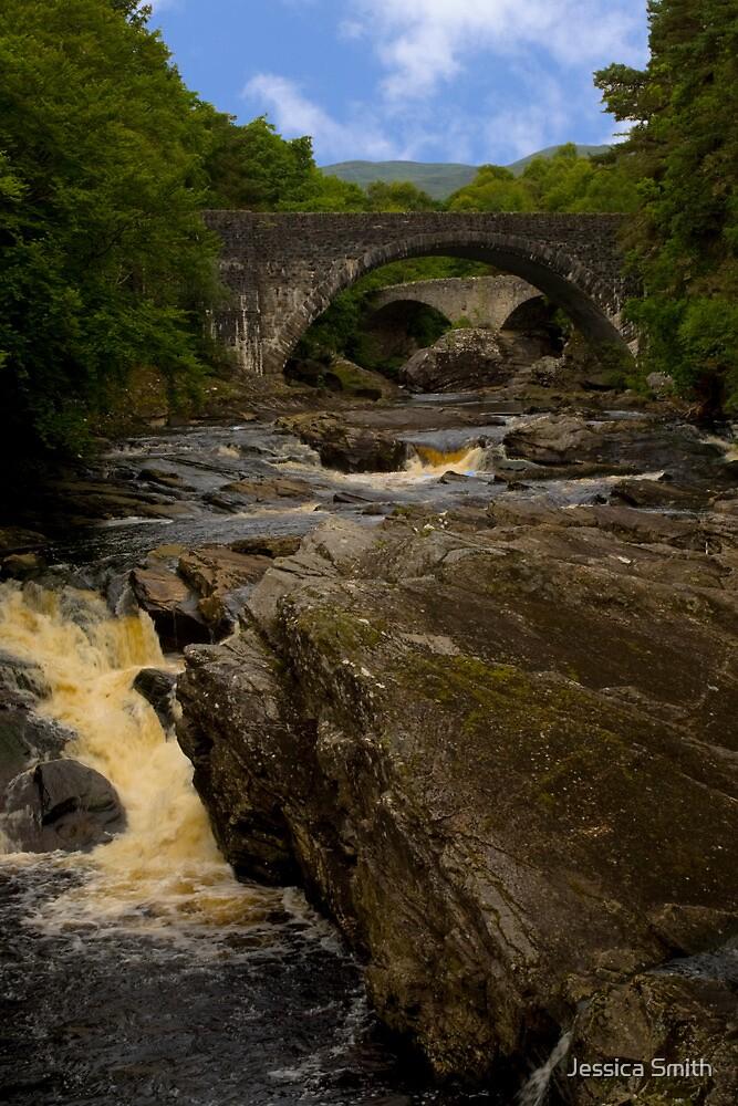 Invermoriston Falls and the Two Bridges by Jessica Smith