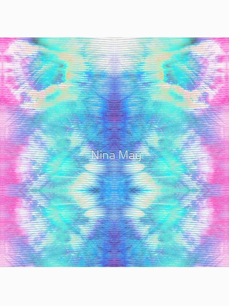 Pastel Rainbow Oxford Shibori by ninabmay
