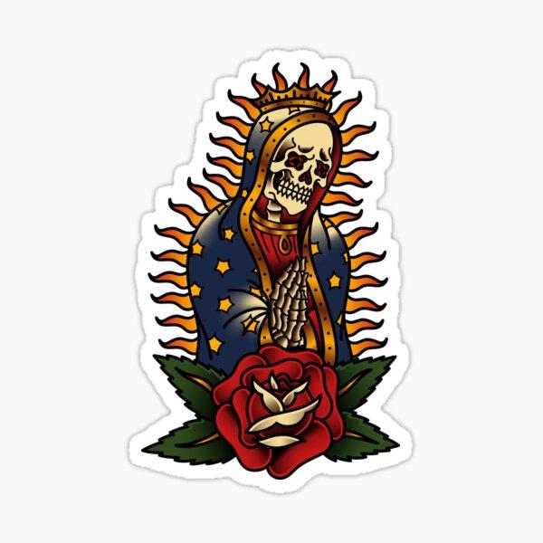 Perro salado Santa Muerte Pegatina