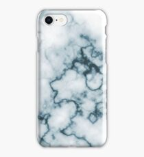 Dark Blue Marble iPhone Case/Skin