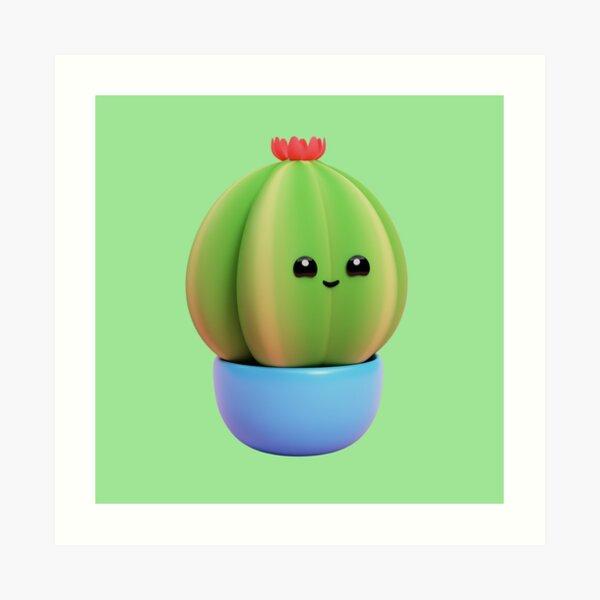 Barrel Cactus Succulent Art Print