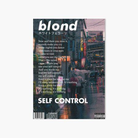 Frank Ocean - Blonde Self Control Art Board Print