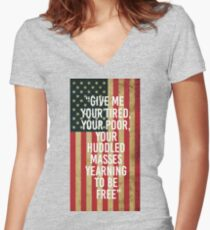 New Colossus Women's Fitted V-Neck T-Shirt