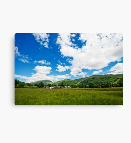Grasmere Village over the field Canvas Print