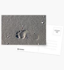 Lonely Footprint Postcards