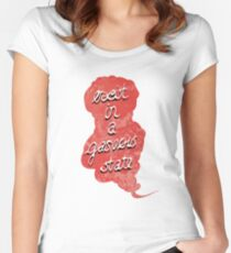 exist in a gaseous state Women's Fitted Scoop T-Shirt