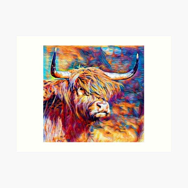 Highland Cow 6 Art Print