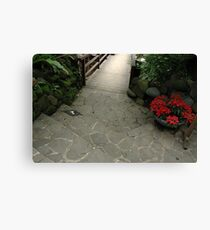 tropical garden Canvas Print