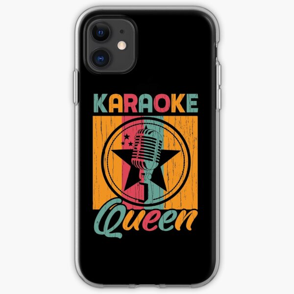 Karaoke Queen Singing Lover Matching Gift iPhone Soft Case