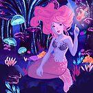 Bioluminescent Bubblegum Mermaid by raediocloud
