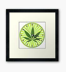 Cannabis clock Framed Print