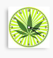 Cannabis clock Canvas Print
