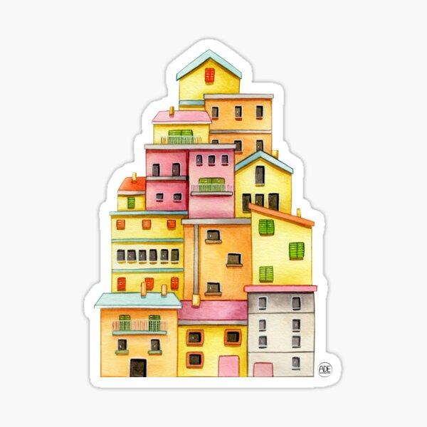 Manarola, Italia Pegatina