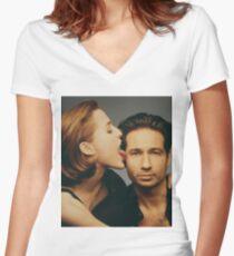 Gilovney photoshoot Women's Fitted V-Neck T-Shirt