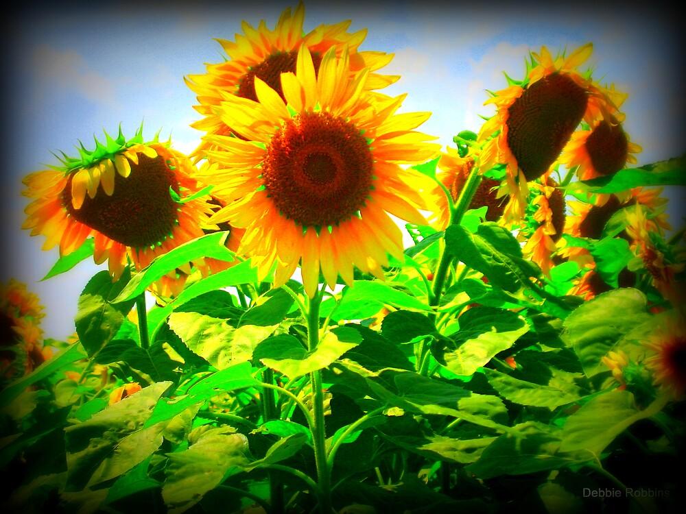 Sunflower Vignette ~ Make A Wish Foundation by Debbie Robbins