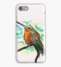 Sitting Hummingbird on a Branch  iPhone Case/Skin