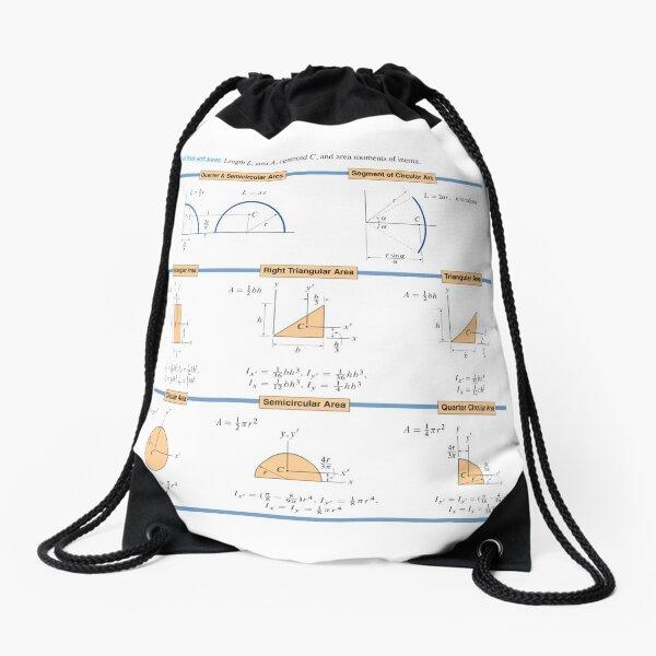 #Properties of #lines and #areas. #Quarter & Semicircular Arcs, Segment of Circular Arc Drawstring Bag