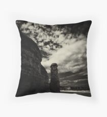 The defiance of the land  Throw Pillow