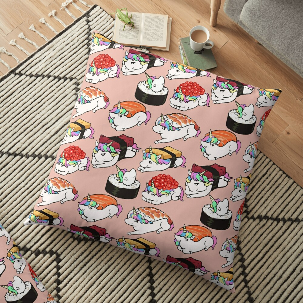 Sushi Unicorn Floor Pillow
