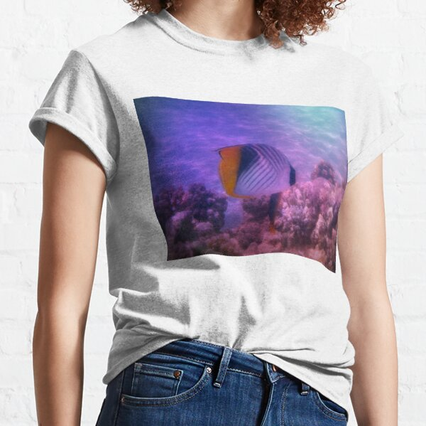 Threadfin Butterflyfish Colorfully Classic T-Shirt