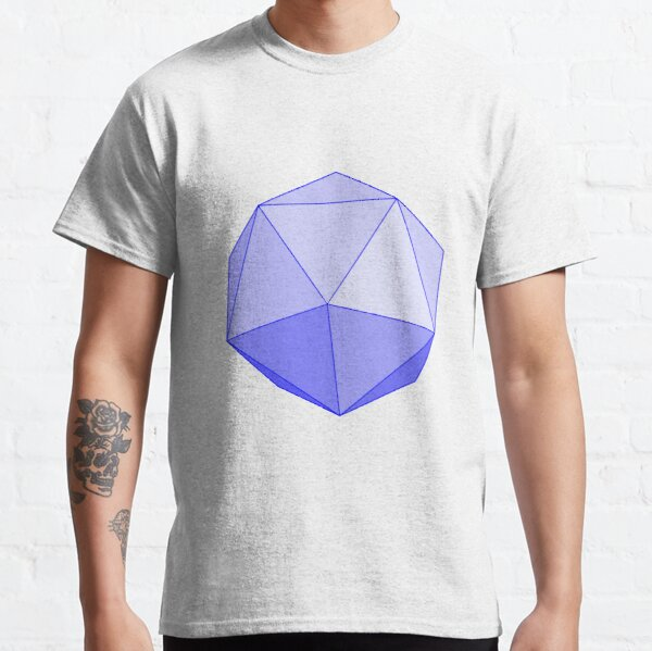 #Platonic, #Convex #Regular #Icosahedron, Geometry Classic T-Shirt