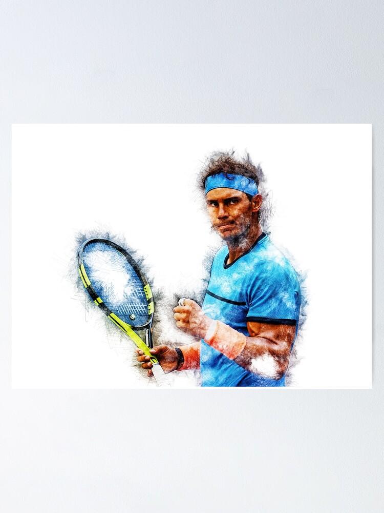 Rafael Nadal Poster By Jordanrusev Redbubble