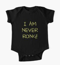 I Am Never Rong! Short Sleeve Baby One-Piece