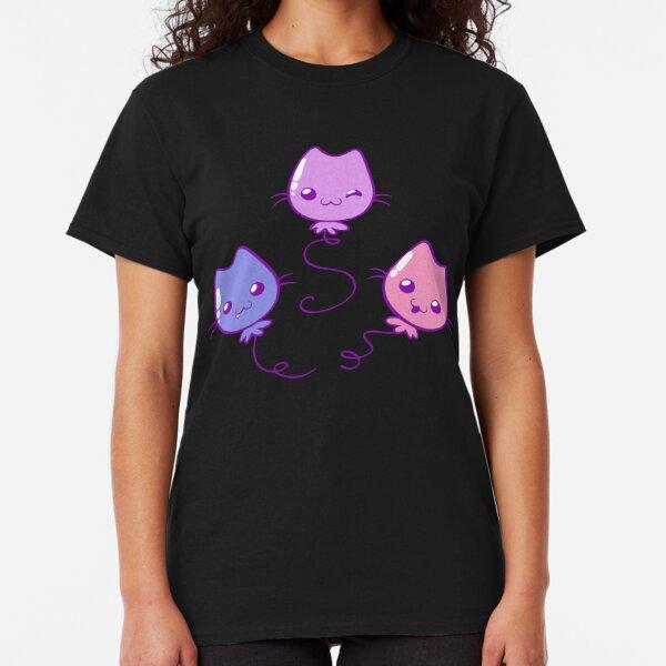 Kawaii Kitty Balloons Classic T-Shirt