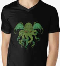 Cthulhu lives Mens V-Neck T-Shirt