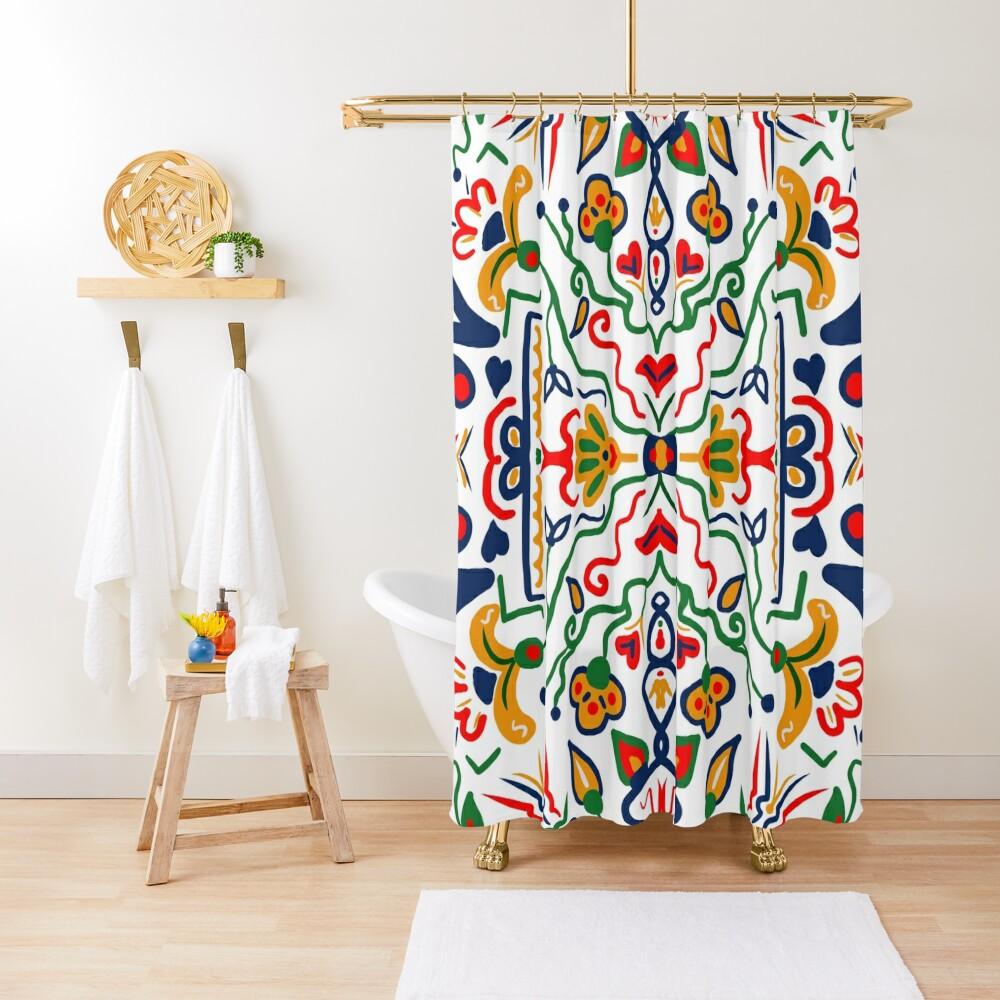 Truck Art- White Shower Curtain