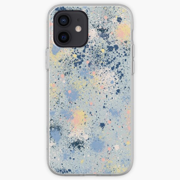 Ink Dust Abstract Splatter Painting iPhone Soft Case
