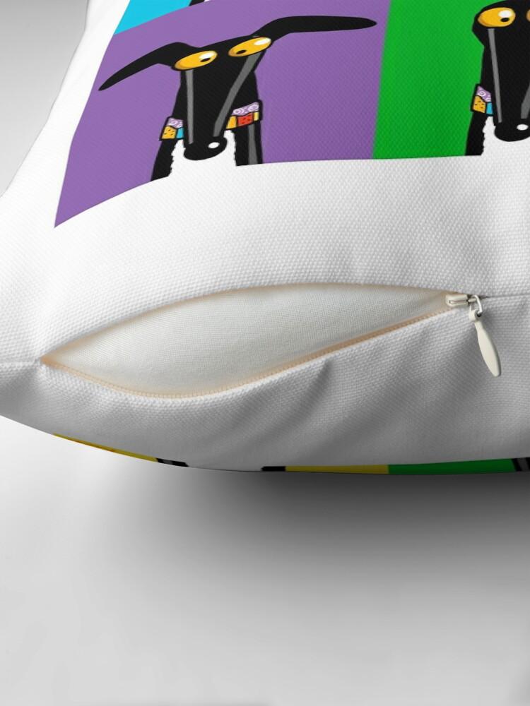 Alternate view of Greyhound Semaphore Throw Pillow