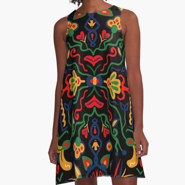 Truck Art- Black A-Line Dress