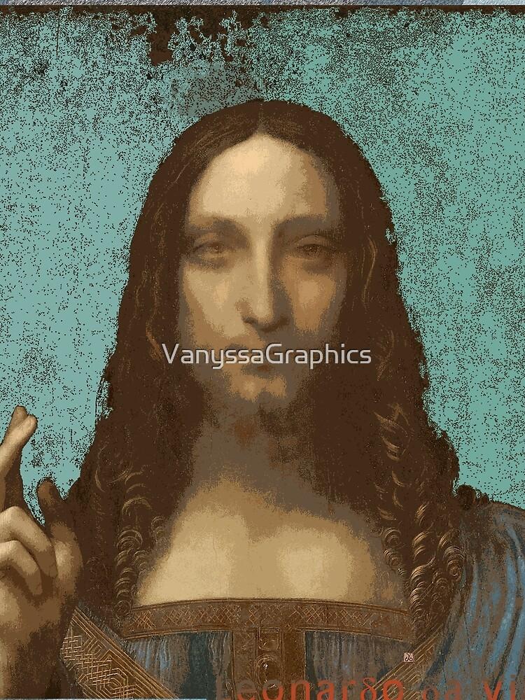 Leonardo Da Vinci's Salvator Mundi (Pop Art by ACCI)  by VanyssaGraphics