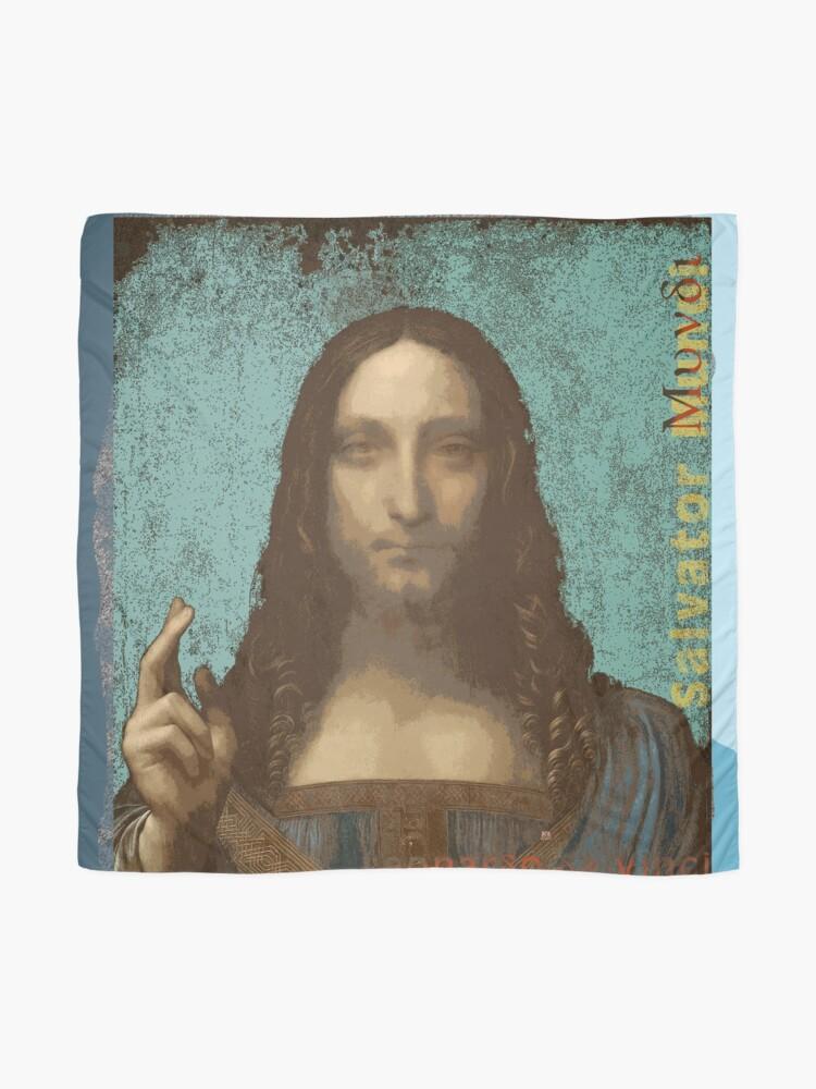 Alternate view of Leonardo Da Vinci's Salvator Mundi (Pop Art by ACCI)  Scarf