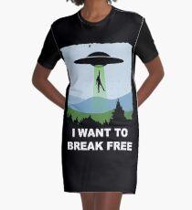 I Want to Break Free - Freddie Returns to Mercury Graphic T-Shirt Dress