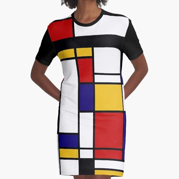 Mondrian Shape Graphic T-Shirt Dress