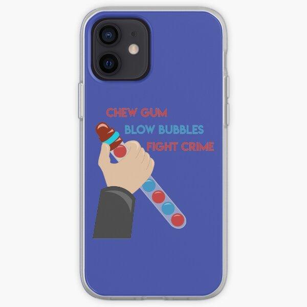 Chew Gum Blow Bubbles Lucha contra el crimen Funda blanda para iPhone