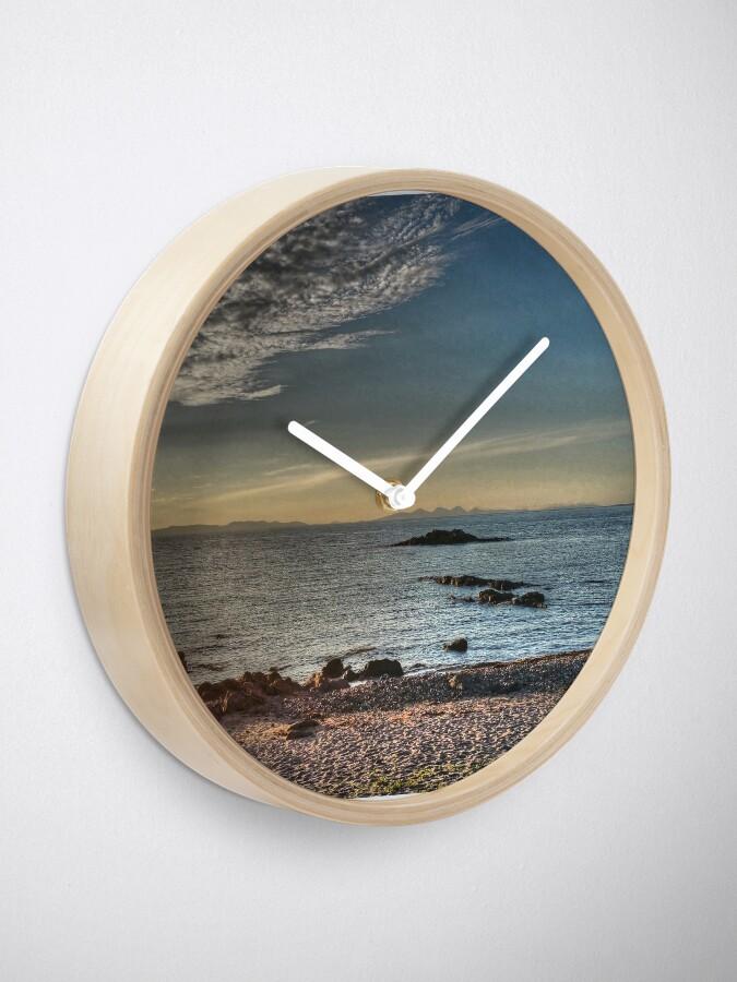 Alternate view of Islay, Gigha, Jura and Cara from Machrihanish Clock